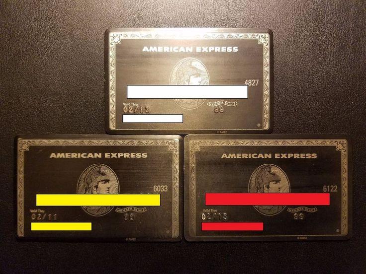 Authentic Amex Centurion Card Titanium Black Card My