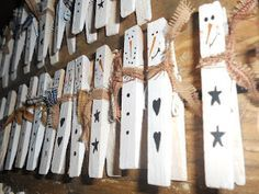 "Snowmen ""clothespin"" Magnets cute craft for the kids to do"