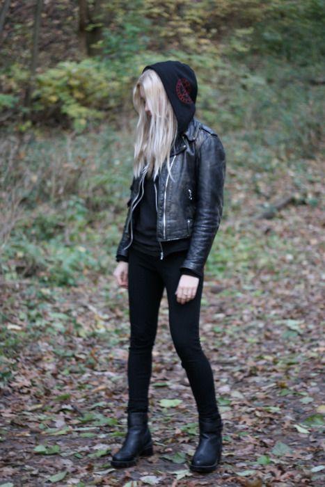 Gothic grunge - I love hoods.