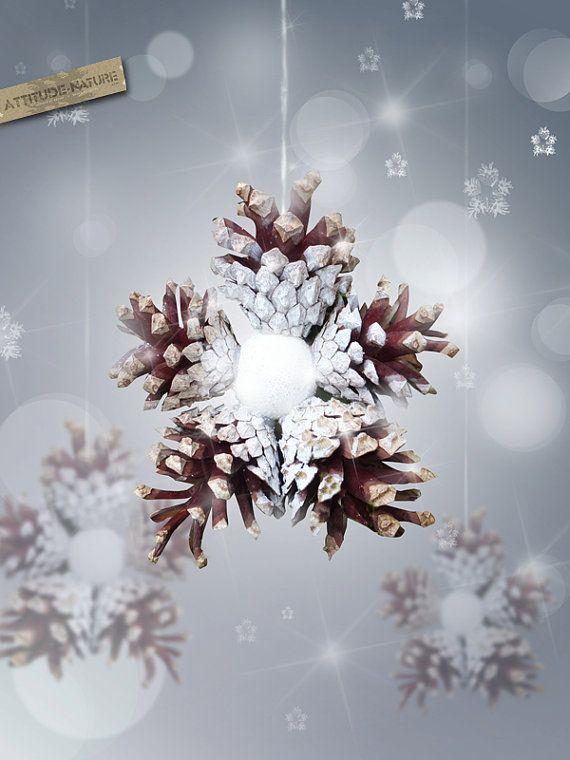 Pine cones snowflake Ornament