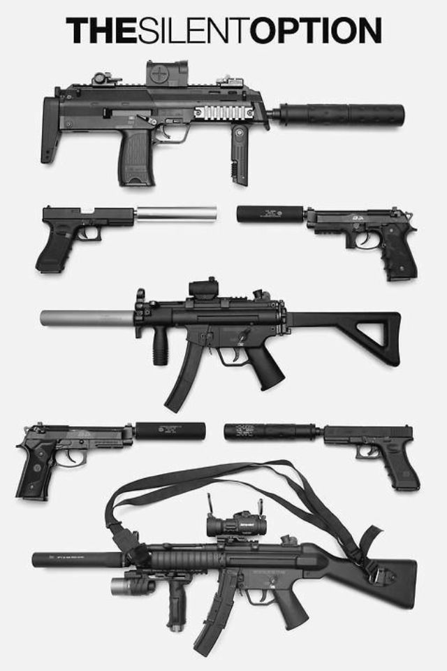 Assault rifles                                                                                                                                                                                 Mais