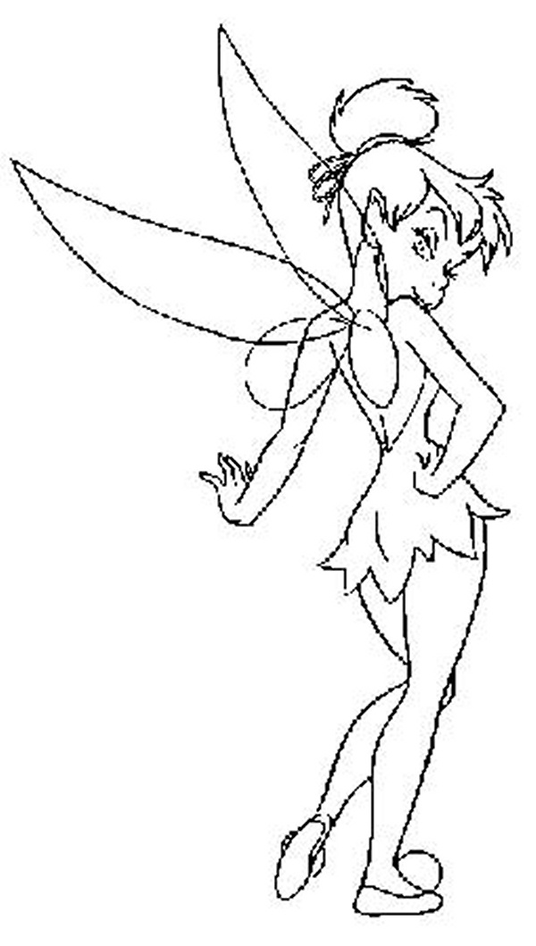 baby tinkerbell coloring pages - photo#43
