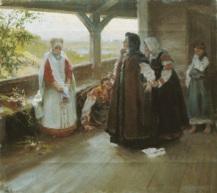 Клавдий Васильевич Лебедев (1852-1916) «Размолвка на террасе»