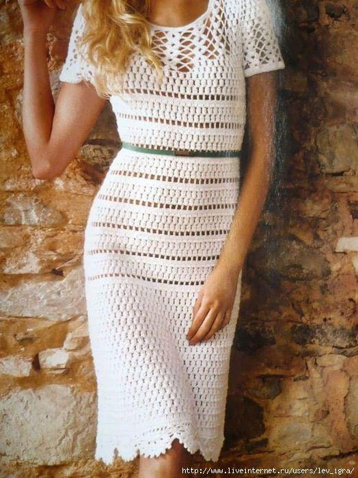 Постила вязаное платье