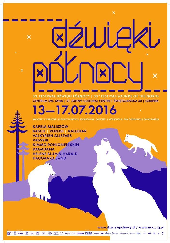 Plakaty promujący 33. Festiwal Dźwięki Północy.   Autor: Anna Witkowska.