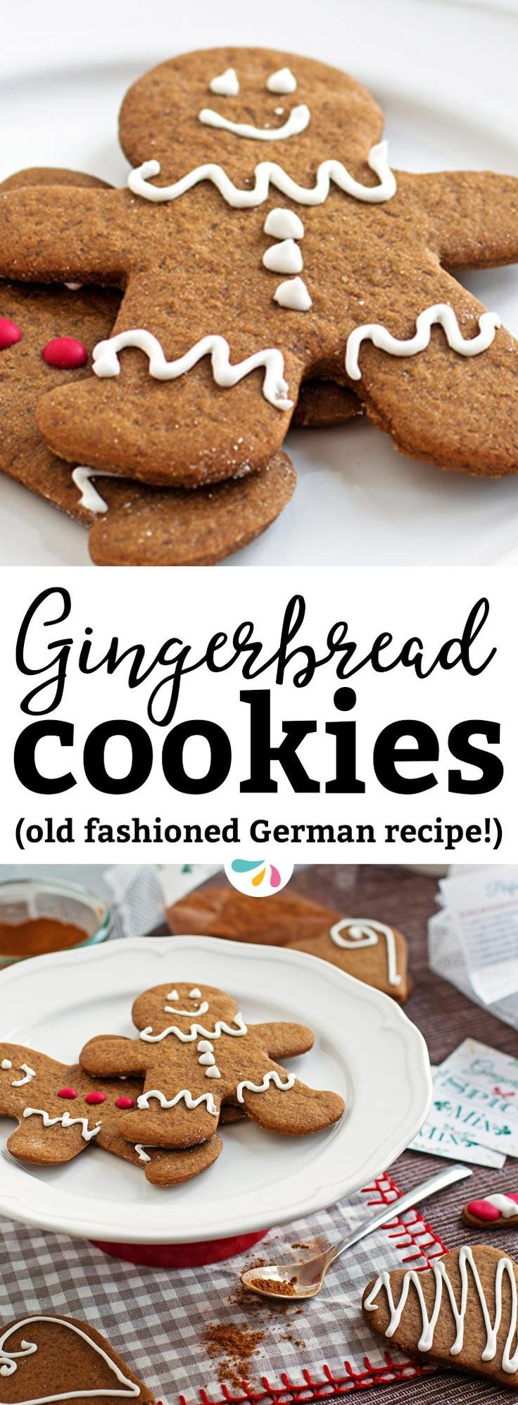 If you need an easy recipe for chewy and soft gingerbread cookies from scratch, this is it! I've broken down the traditional German Christmas classic for busy moms. The homemade dough is simple to put together so you have more time to add cute icing or frosting decorations to the gingerbread men with the kids! A great holiday baking recipe. | #christmas #christmascookies #gingerbread #gingerbreadcookie #gingerbreadmen #recipes #holidays #holidayrecipes #food #christmasfood #christmasbaking