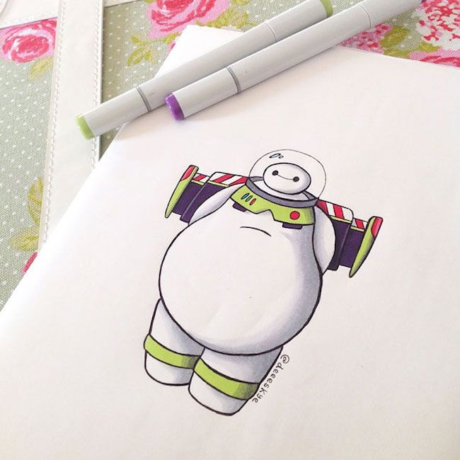Best Big Hero Images On Pinterest Disney Movies Baymax - Baymax imagined famous disney characters
