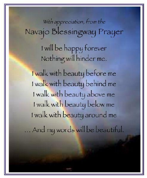 Navajo Prayer Beauty Navajo Blessingway Prayer Quotes