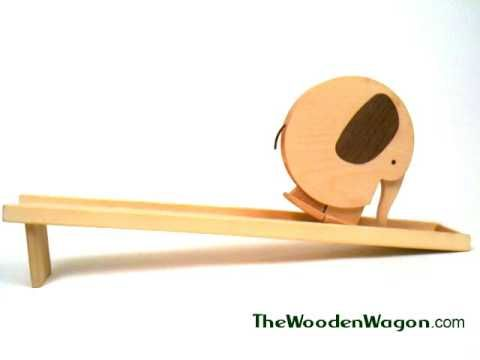A charming wooden toy from Europe, that walks down a ramp with a gentle push. Available at our website here: http://thewoodenwagon.com/woodentoy/BGF102.html
