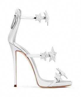c586dcb92 Giuseppe Zanotti Giuseppe Zanotti Design Women s Silver Leather Sandals   GiuseppezanottiHeels