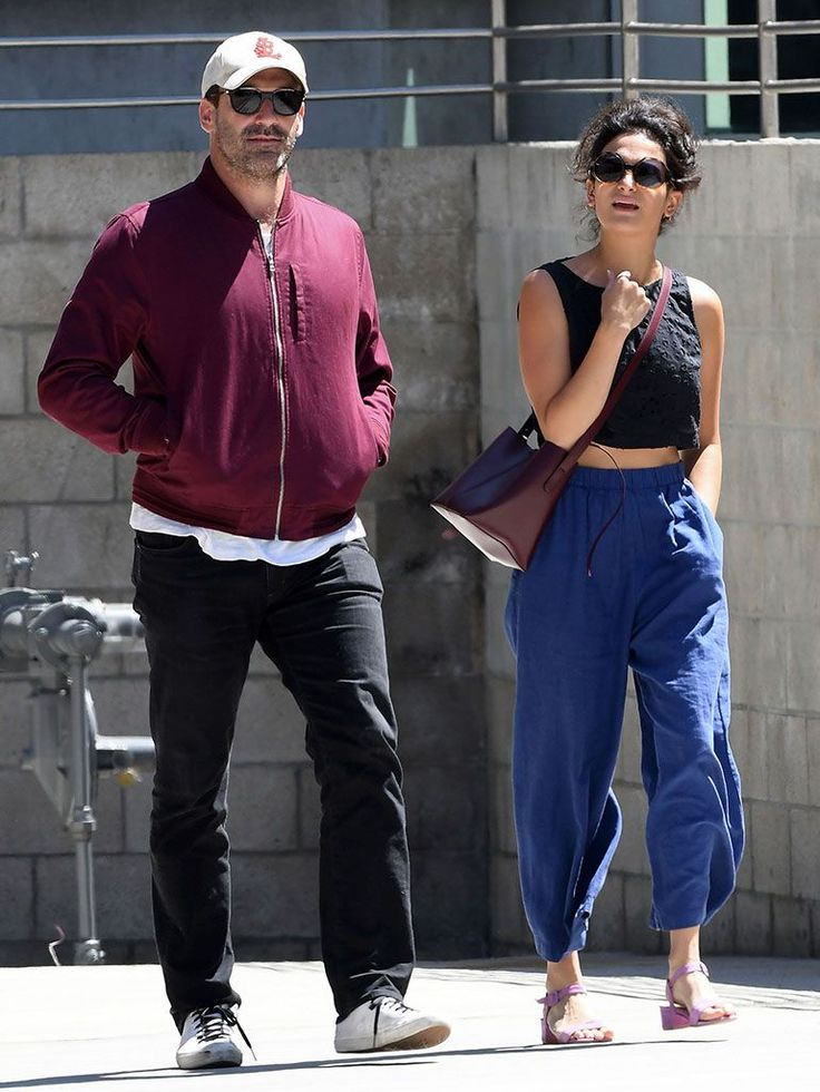 Jon Hamm and Jenny Slate on their movie outing
