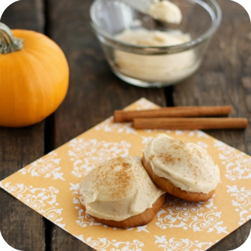 Malted Pumpkin Cookies w/Browned Butter Icing
