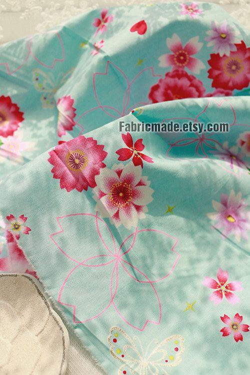 Japanese Fabric Shabby Chic Fabric Jacquard Gilding by fabricmade
