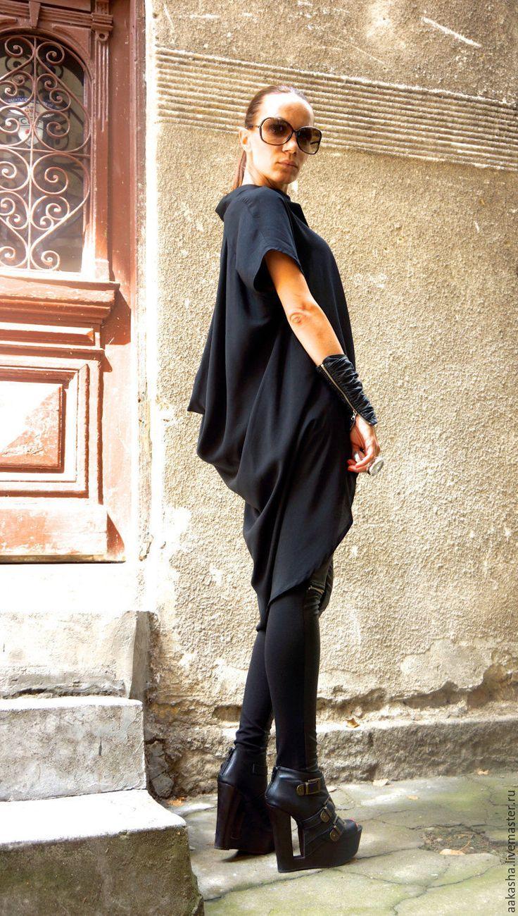 Купить Рубашка Extravagant - черный, рубашка, черная рубашка, туника, черная…