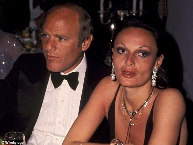 Flashback: Ms von Furstenberg and Mr Diller, who first met in the mid-Seventies, tied the knot in 2001