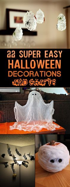22 Super Easy Halloween Decorations and Crafts You Can Make Yourself - Halloween decorating projects and ideas