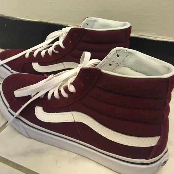 Sk8 high vans Really good condition maroon colored skate highs. Vans Shoes