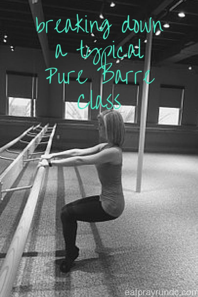 what a typical pure barre class is like via eat pray run dc
