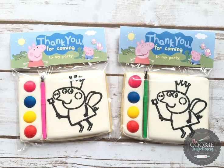 Paint Your Own Peppa Pig cookies by Holli at The Cookie Confectionery in Temecula, CA
