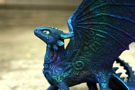Toothless Night Fury Dragon Sculpture httyd от DemiurgusDreams