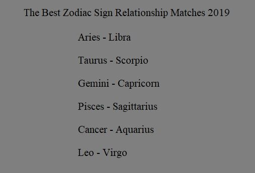 Best matches 2019 zodiac sign | Star-Crossed | Zodiac signs