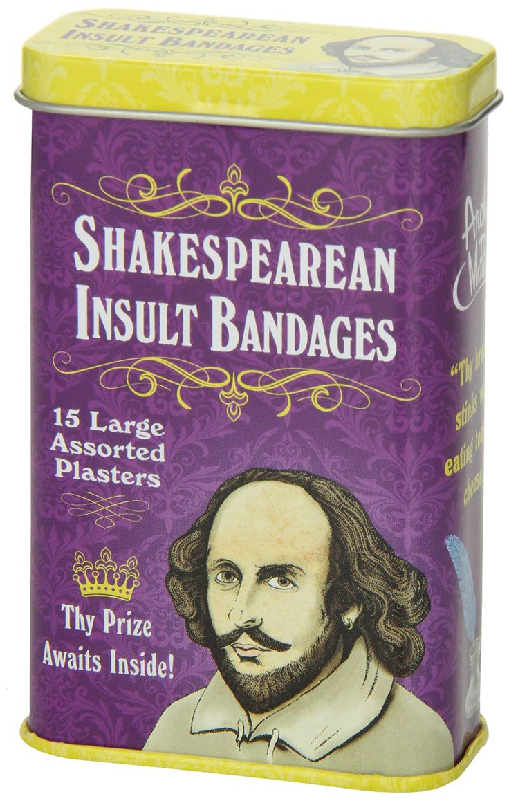 Amazon.com: Accoutrements Shakespearean Insult Bandages: Toys & Games