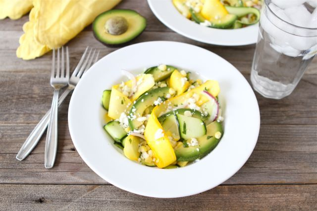 Wow... want to make this next week. :) Zucchini Ribbon Salad | Two Peas and Their Pod