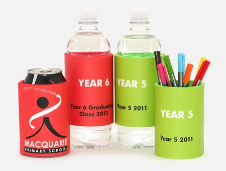 Water bottle & can coolers for your class or year group at school.