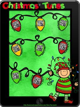Add some Holiday Music into your school Day!  Kids just scan the QR Code and a Christmas song plays!  Best part, it's a FREEBIE!  Try it out in your classroom.  If your students love it, visit my store for QR Stories to incorporate into your reading centers!  FREEBIE!