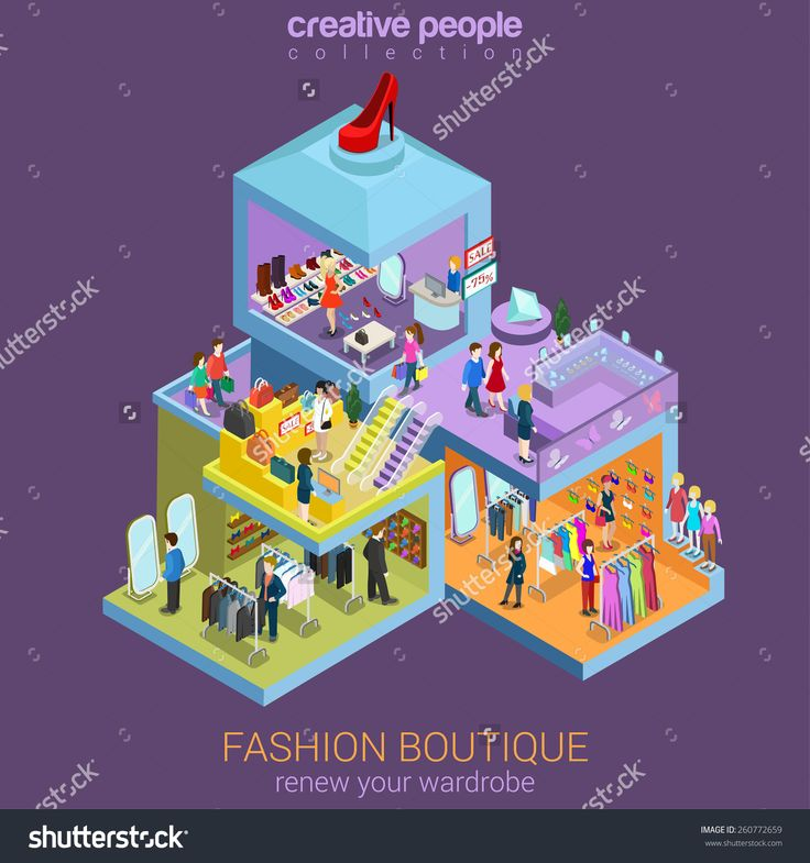 stock-vector-flat-d-isometric-fashion-boutique-shopping-mall-sale-concept-vector-clothes-clothing-bags-260772659.jpg (1500×1600)
