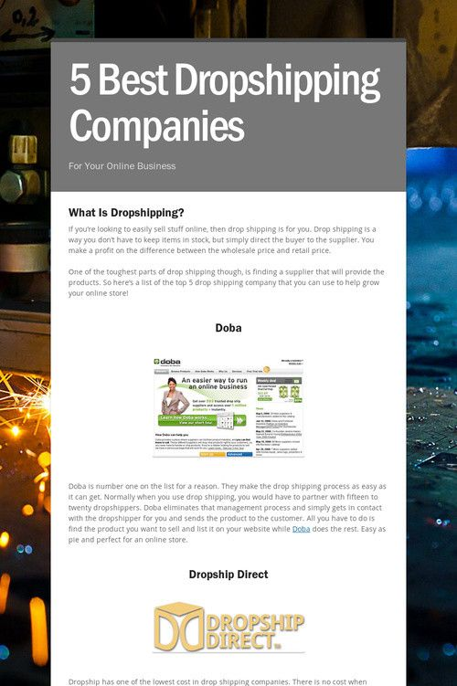 5 Best Dropshipping Companies