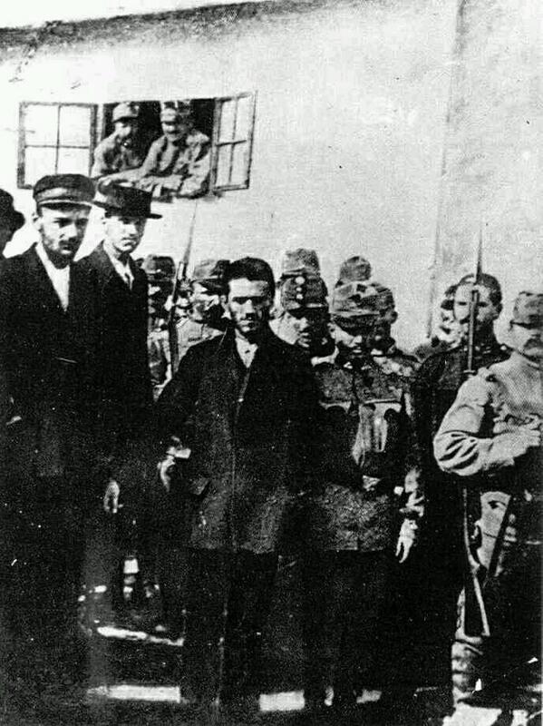 Avusturya Veliahtı Ferdinand'ı öldürerek Birinci Dünya Savaşının başlamasına neden olan Meşhur Sırp Milliyetçi,1914..