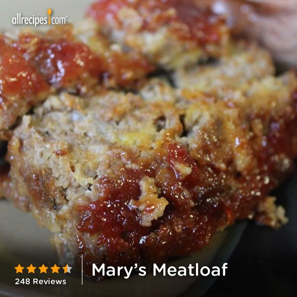Mary's Meatloaf   It's the sweet, tangy topping that makes Mary's meatloaf recipe so special.