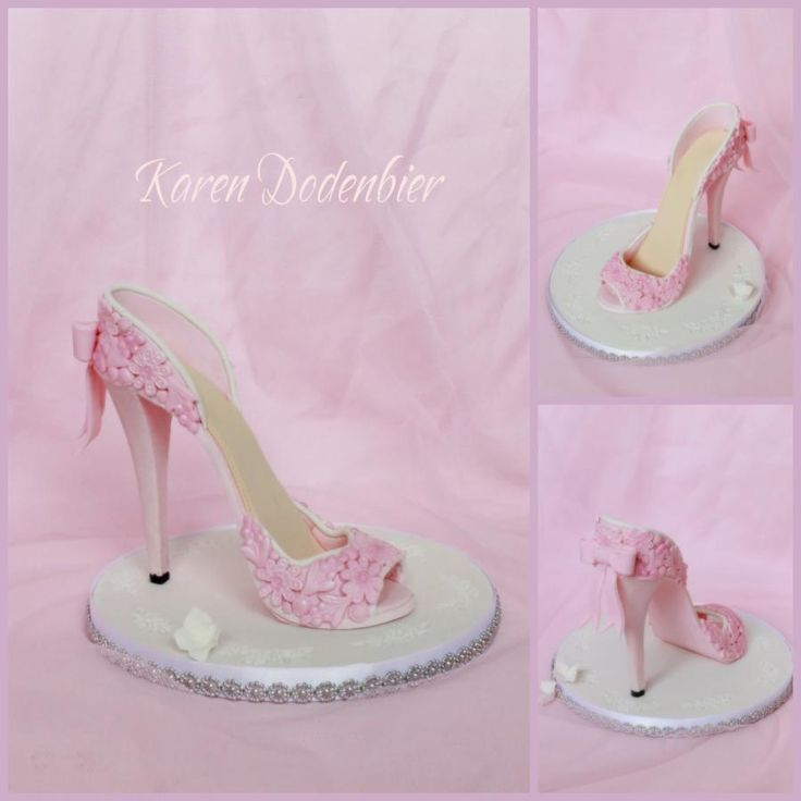 youtube how to make a fondant high heel shoe