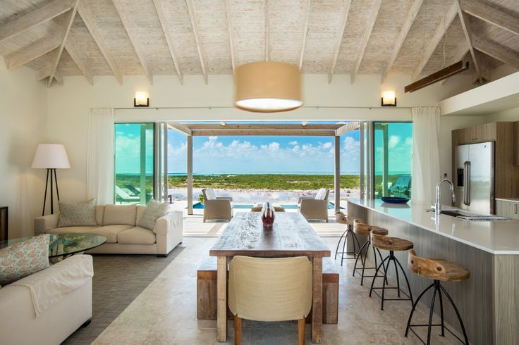 The Great Room of the breathtaking Coral 2 #Villa - isn't it gorgeous? To learn more about our #luxury villa offerings, visit http://www.sailrocksouthcaicos.com/real-estate/villas.