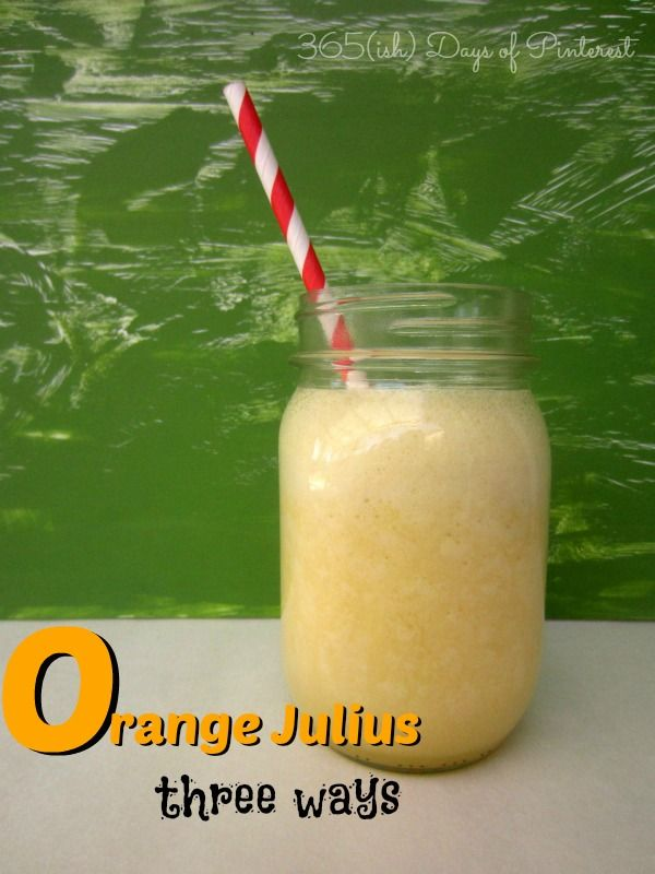 What is an Orange Julius? A creamy, smooth, refreshing drink that just screams SUMMER to me! It brings to mind trips to the mall and the food court as a kid