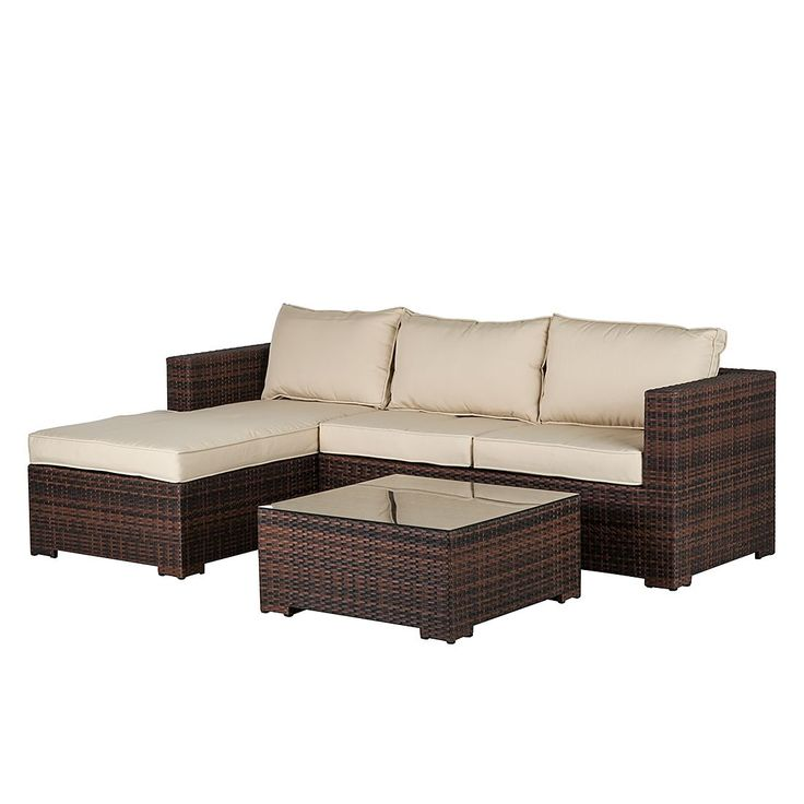 Lounge Set Paradise Lounge (inkl. Tisch) - Polyrattan/Stoff - Braun/Beige, Fredriks Jetzt bestellen unter: https://moebel.ladendirekt.de/garten/gartenmoebel/gartenmoebel-set/?uid=ffaa08ad-2d39-548b-ace9-eec72f6ea94e&utm_source=pinterest&utm_medium=pin&utm_campaign=boards #fredriks #garten #gartenmoebel #gartenmoebelset #gartenmöbel #loungemöbel