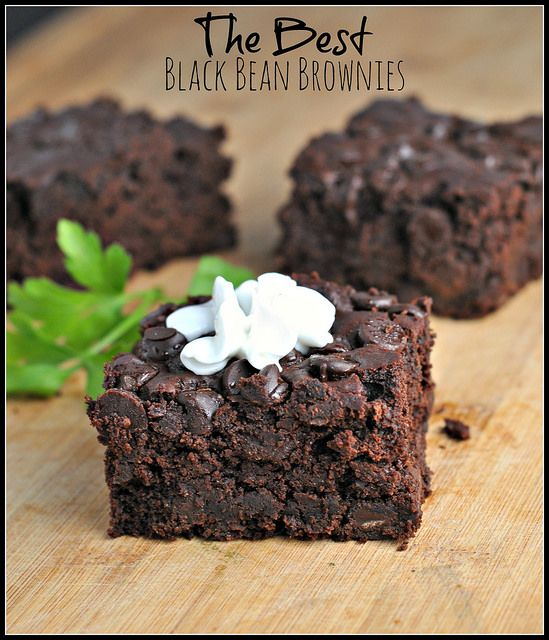 Black Bean Brownies (black bean, 2 eggs, 1/2c cocoa powder, 3/4c sugar, 1/2t oil, 1T almond milk, 1 tsp balsamic vinegar, bp bs 1/2t ground coffee, 3/4c chocolate chips)