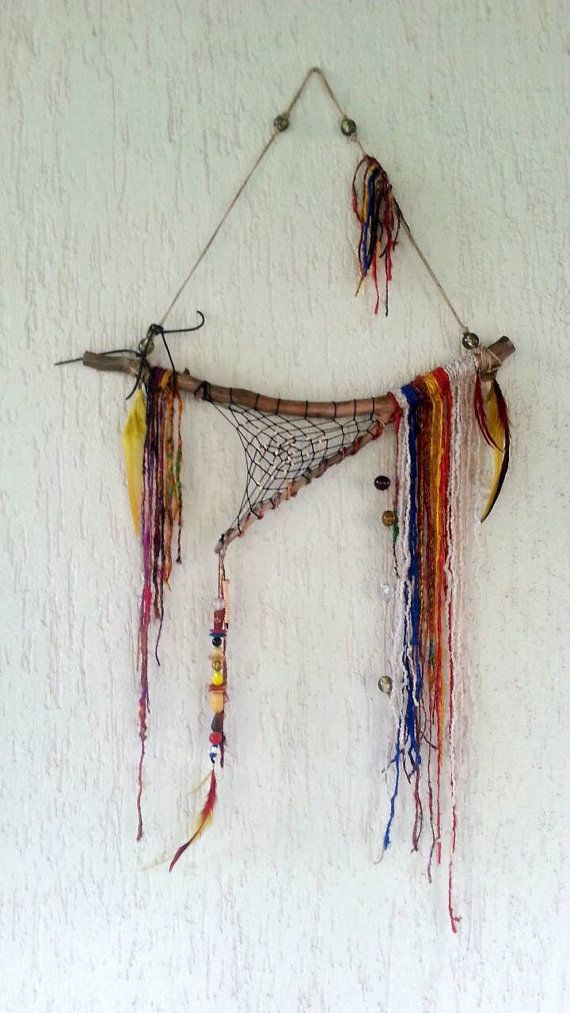 Boho Rustic gypsy décor Gypsy wall art bohemian by handmadebyfofo