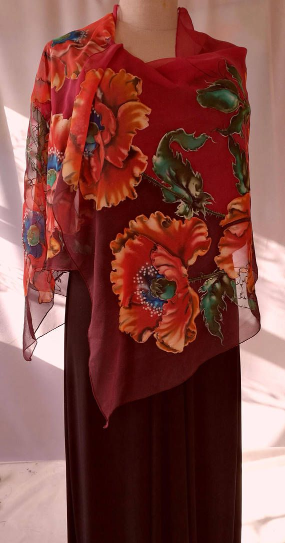 Silk Square Scarf - RED ROOSTER by VIDA VIDA VCWq0y2OR