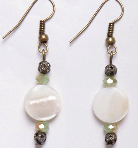 Moondisk earrings by DriftwoodandMoss on Etsy