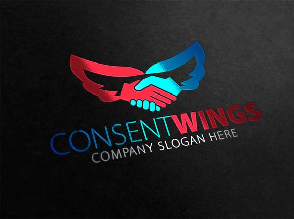 Consent Wings Logo by Creative Dezing on @creativemarket