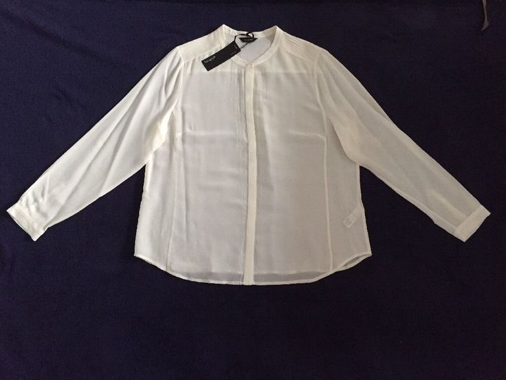 M&S AUTOGRAPH Washable 100%PURE SILK UK20 BNWT RRP£65 Ladies Shirt Cream
