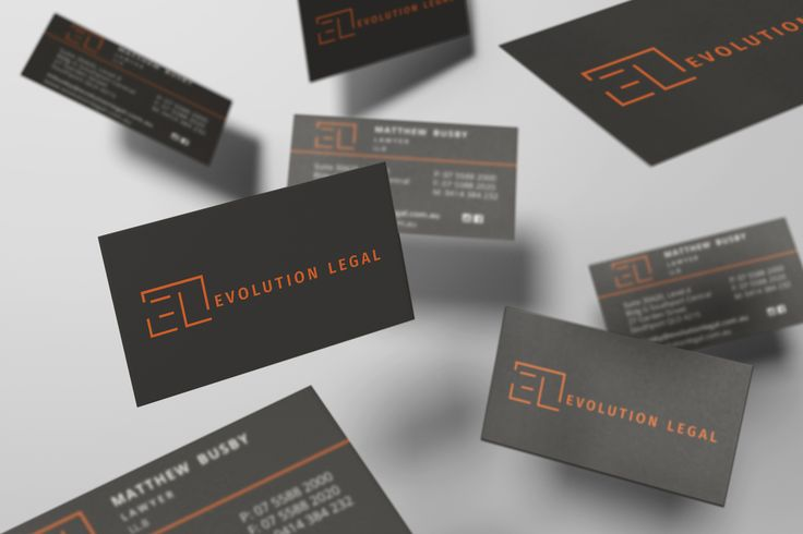 Evolution Legal - New business card design with their new branding by Swadoca Media.