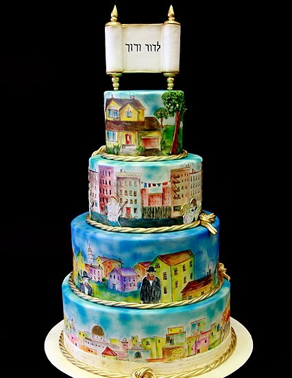 history hand-painted cakes