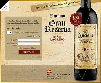 Anciano Gran Reserva är gjort på Spaniens mest populära premiumdruva – Tempranillo. Druvorna är handplockade från 30 år gamla vinstockar. Jordmånen består