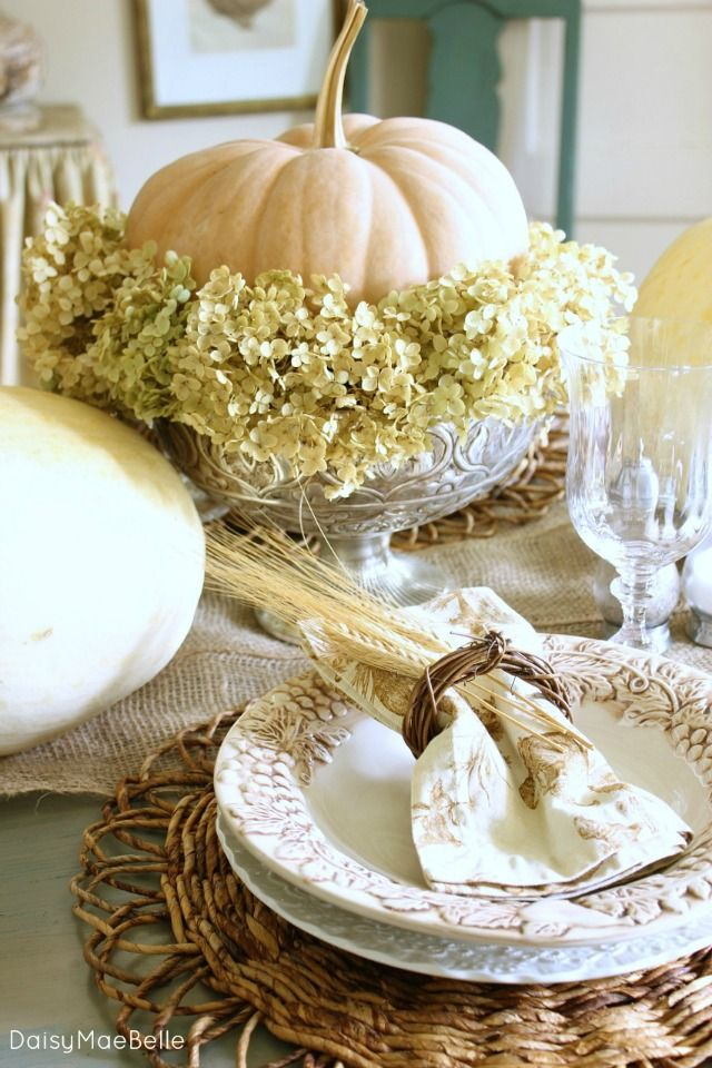 25 Great Ideas About Fall Table Settings On Pinterest