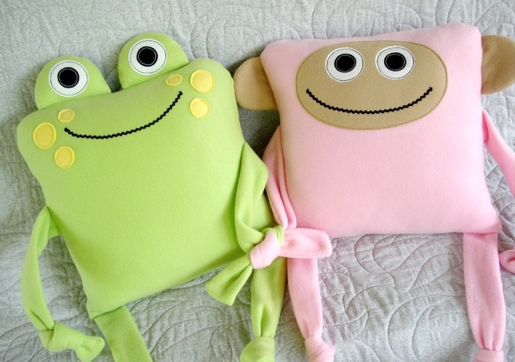 Monkey, Sheep & Frog Pillows