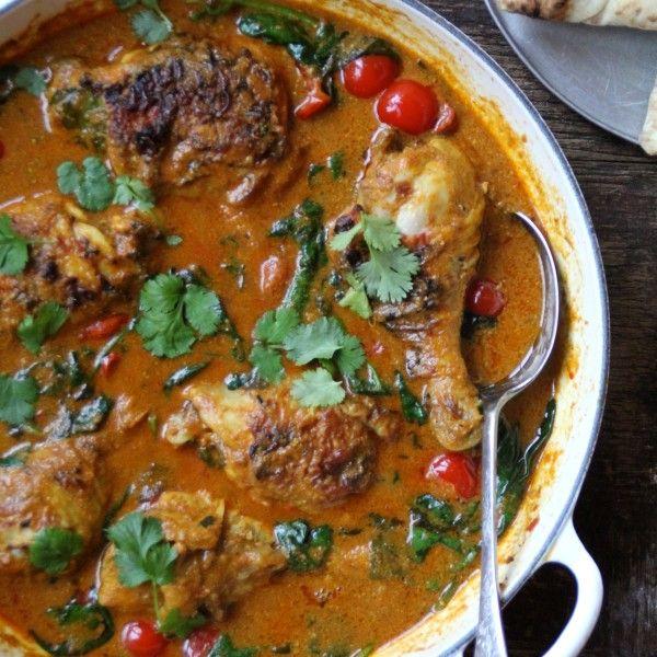 Enkel indisk curry med kyllinglår