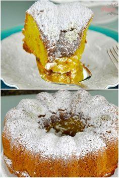Bolo Magdalena de limão (madalena) receita tradicional espanhola de bolo de limão